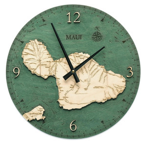 nautical wood maui wall clock