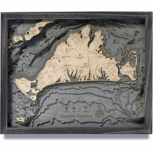 nautical wood maps martha's vineyard coastal blue grey