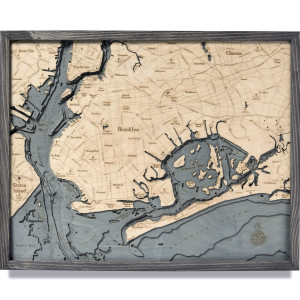 nautical wood maps brooklyn coastal blue grey