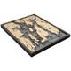 nautical wood maps narragansett / newport coastal blue grey