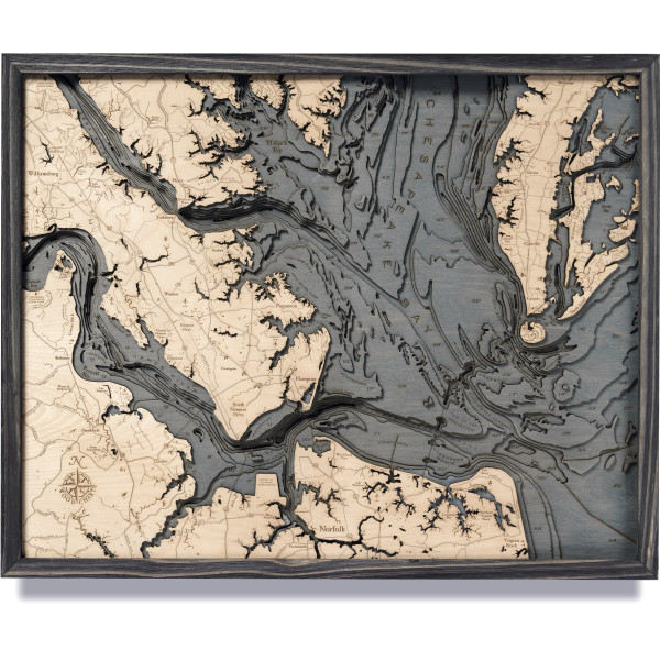 nautical wood maps norfolk coastal blue grey