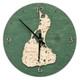 nautical wood clock block island rhode island