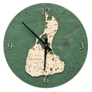 nautical wood clock block island rhode island