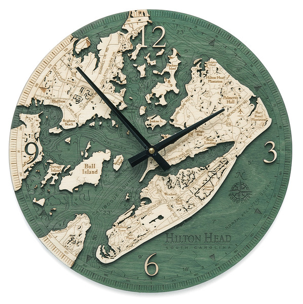 nautical wood clock hilton head south carolina