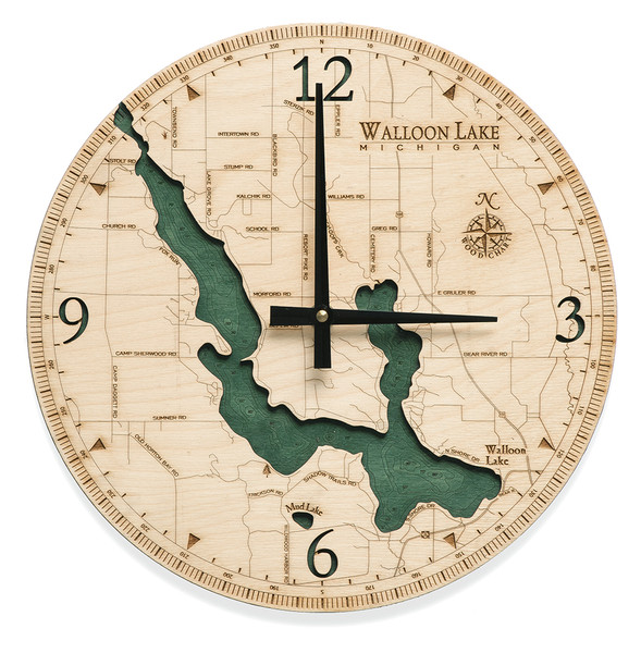 nautical wood clock walloon lake michigan