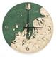 nautical wood clock northwest michigan