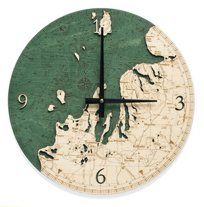 nautical wood clock northwest michigan