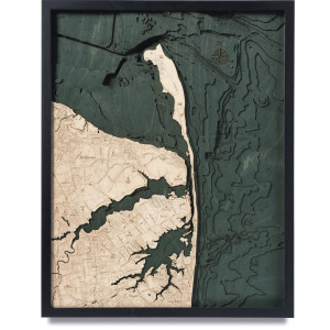nautical wood maps rumson