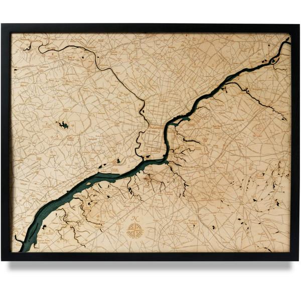 philadelphia nautical wood map