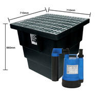 175L Stormwater Pit Single BPS-100V 70L/Min 710 x 710 x 660