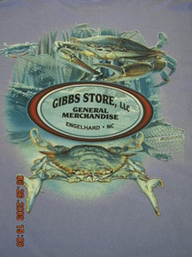 Gibbs Store Blue Crab Long-Sleeve T-Shirt