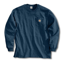Carhartt Navy Long Sleeve Pocket T-Shirt