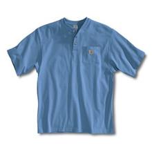 Carhartt Pacific Blue Short Sleeve Henley