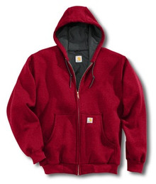 Carhartt Red Hooded Sweatshirt