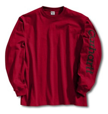 Carhartt Red Logo Long-Sleeve T-Shirt