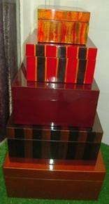Palecek Stripe/Crackle Boxes