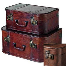 Palecek Oxford Alligator Rectangular Trunks