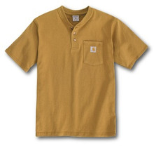 Carhartt Boys Brown Henley Shirt