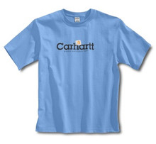Carhartt Boys Pacific Blue Logo T-Shirt