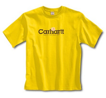 Carhartt Boys Yellow Logo T-Shirt