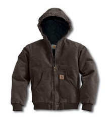 Carhartt Boys Dark Brown Sandstone Jacket
