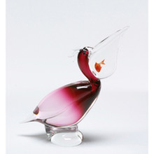 Murano Pelican with Fish 544321B