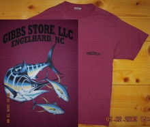 Gibbs Store Dark Rose Fish Short Sleeve T-Shirt