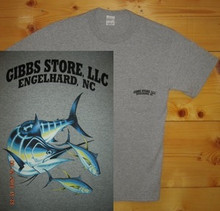 Gibbs Store Light Gray Fish Short Sleeve T-Shirt