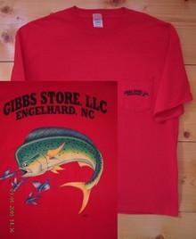 Gibbs Store Red Dolphin Short Sleeve T-Shirt