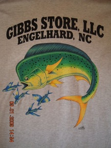 Gibbs Store White Dolphin Short Sleeve T-Shirt