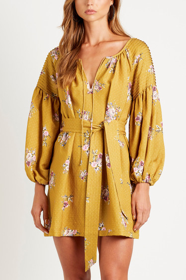 Bellflower Smock Dress, Saffron
