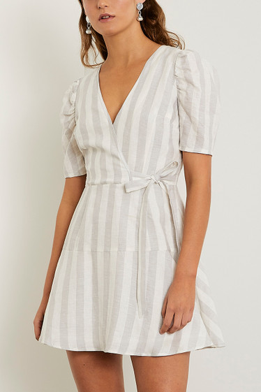 Monroe Mini Dress, Cloud Stripe