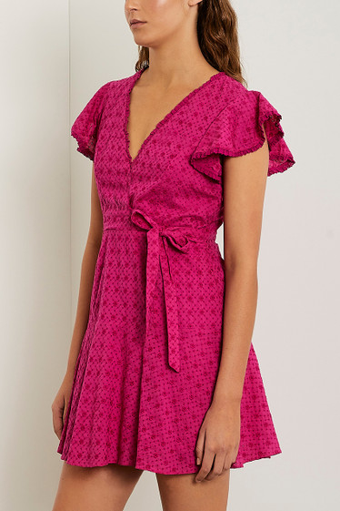Barba Wrap Dress, Viola