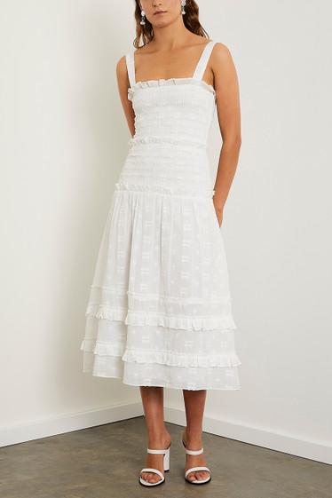 Datsy Midi Dress, Ivory
