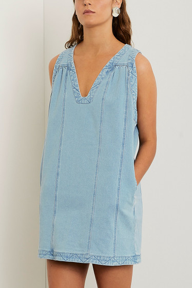Olsen Shift Dress, Blue Wash