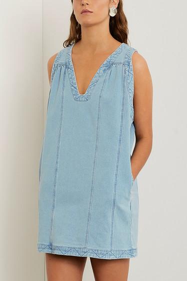 Olsen Shift Dress, Blue Wash