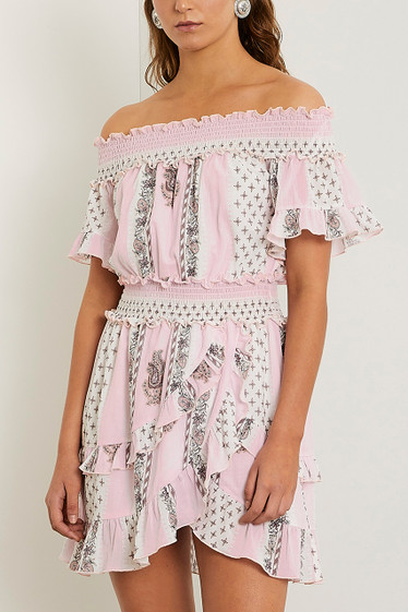 Marcel Off Shoulder Dress, Musk