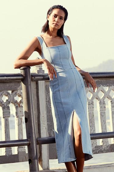 Olsen Midi Dress, Blue Wash