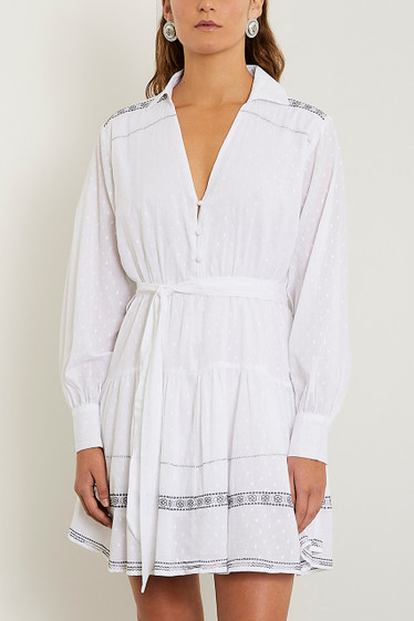 Maskia Shirt Dress, Ivory