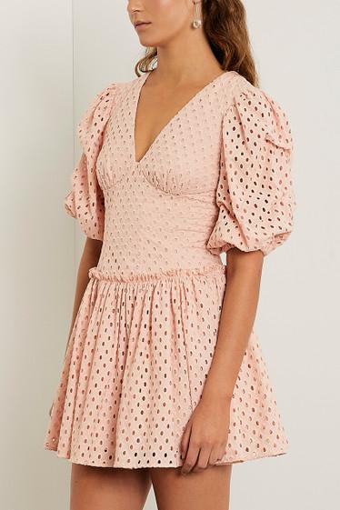 Chiara Mini Dress, Nude