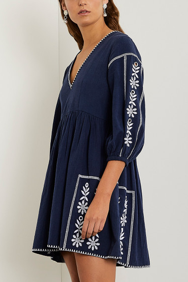 Onasis Dress, Midnight