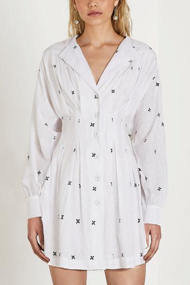 Jax Pleat Dress, Ivory