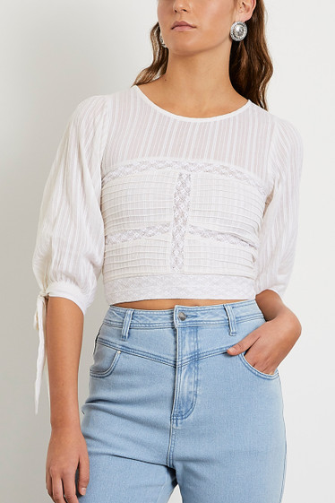 Lucia Blouse, Ivory