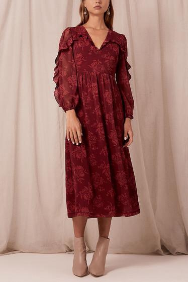 Sahara Midi Dress, Pinot