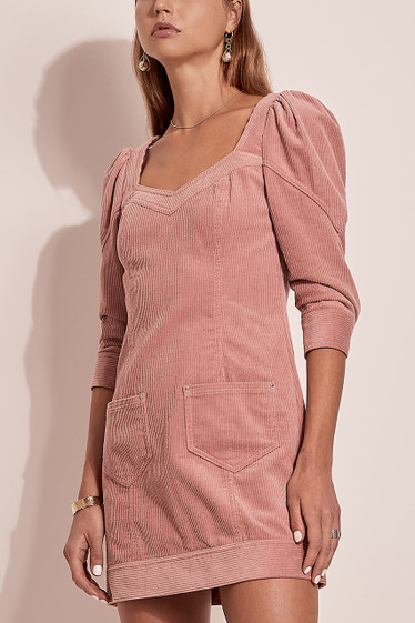 Ballina Mini Dress, Rose Cord
