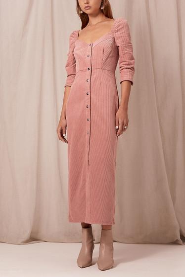 Ballina Midi Dress, Rose Cord
