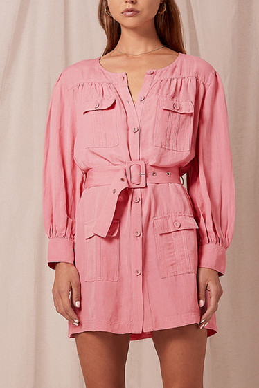 Geneva Detail Dress, Bubblegum