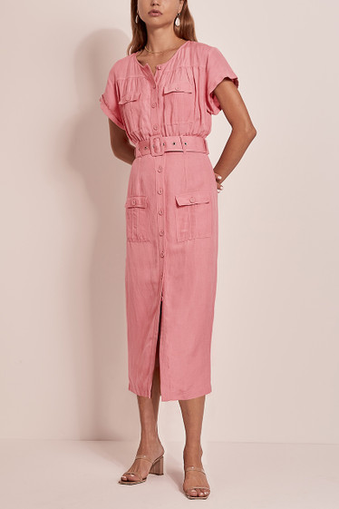 Geneva Midi Dress, Bubblegum