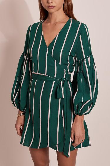 Meyer Wrap Dress, Aloe Stripe
