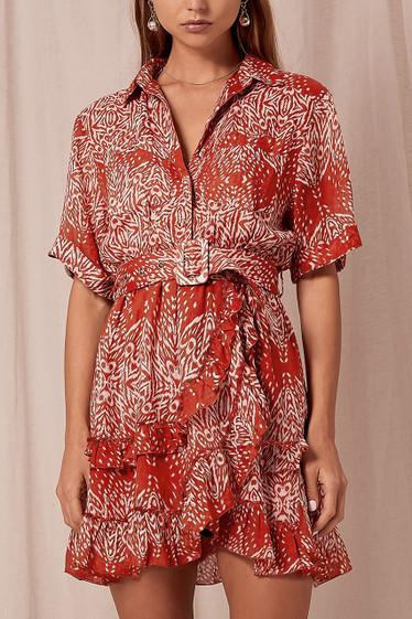 Ava Mini Dress, Auburn